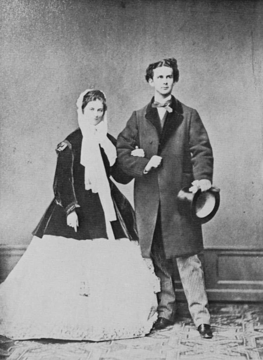 Ludwig with his fiance; the marriage never happened.