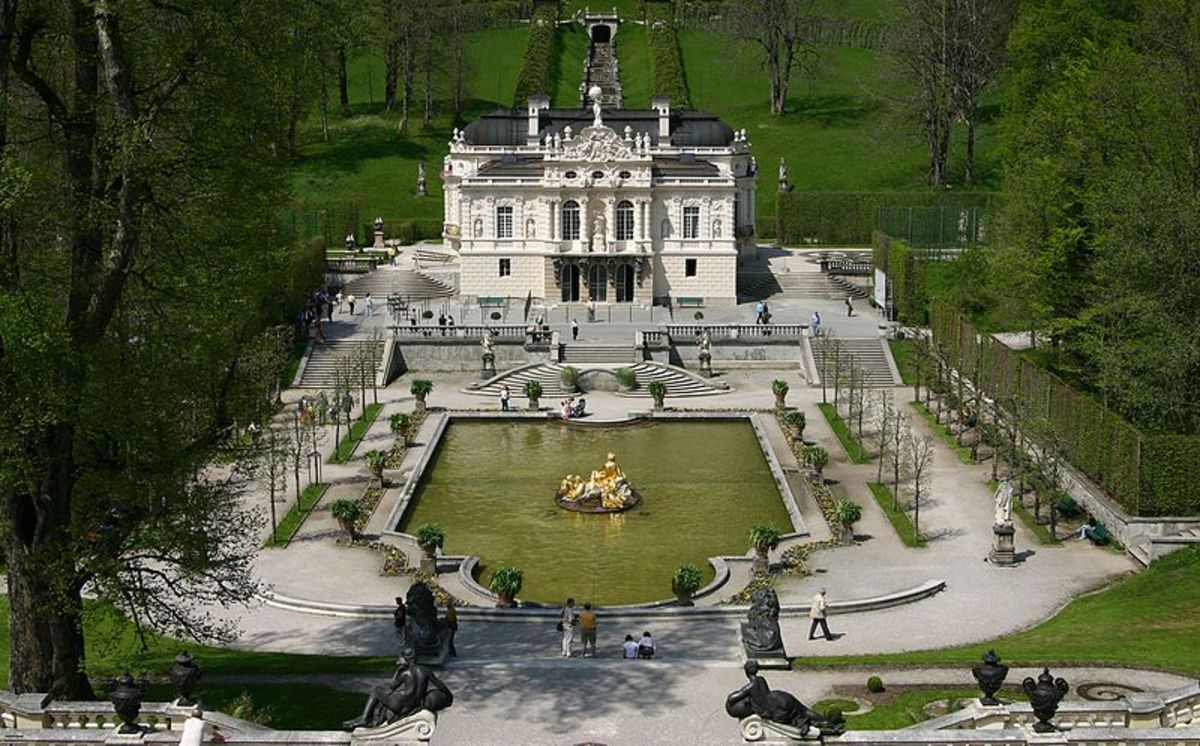 Linderhof Palace was the only building project that was finished in Ludwig's lifetime.