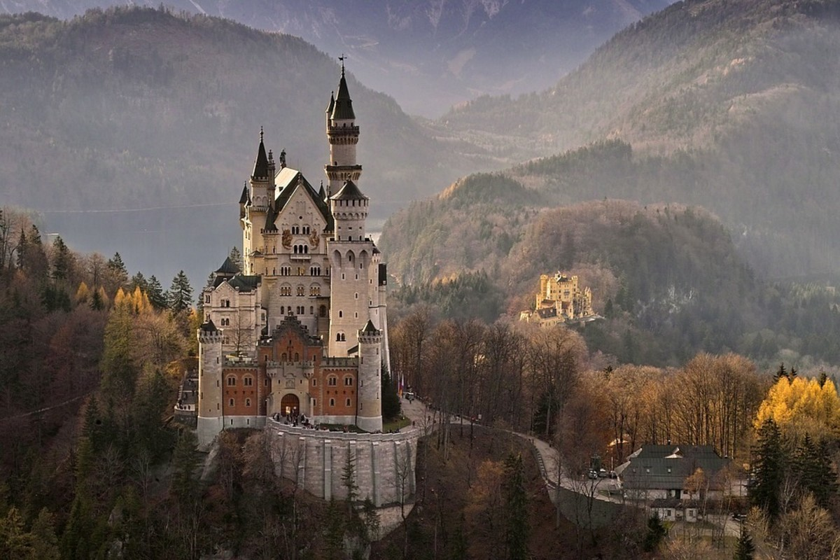 Neuschwanstein Castle. If it looks familiar that's because it was the inspiration for Sleeping Beauty's Castle at Disneyland.