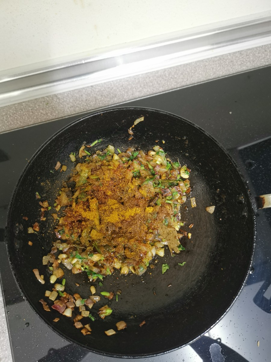 Add all the dry spices