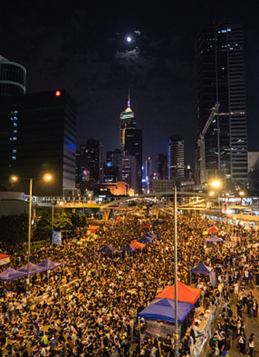 During the Hong Kong protests, FireChat users were able to communicate over a wide area by creating a mesh network, something GoTenna is so far unable to do.