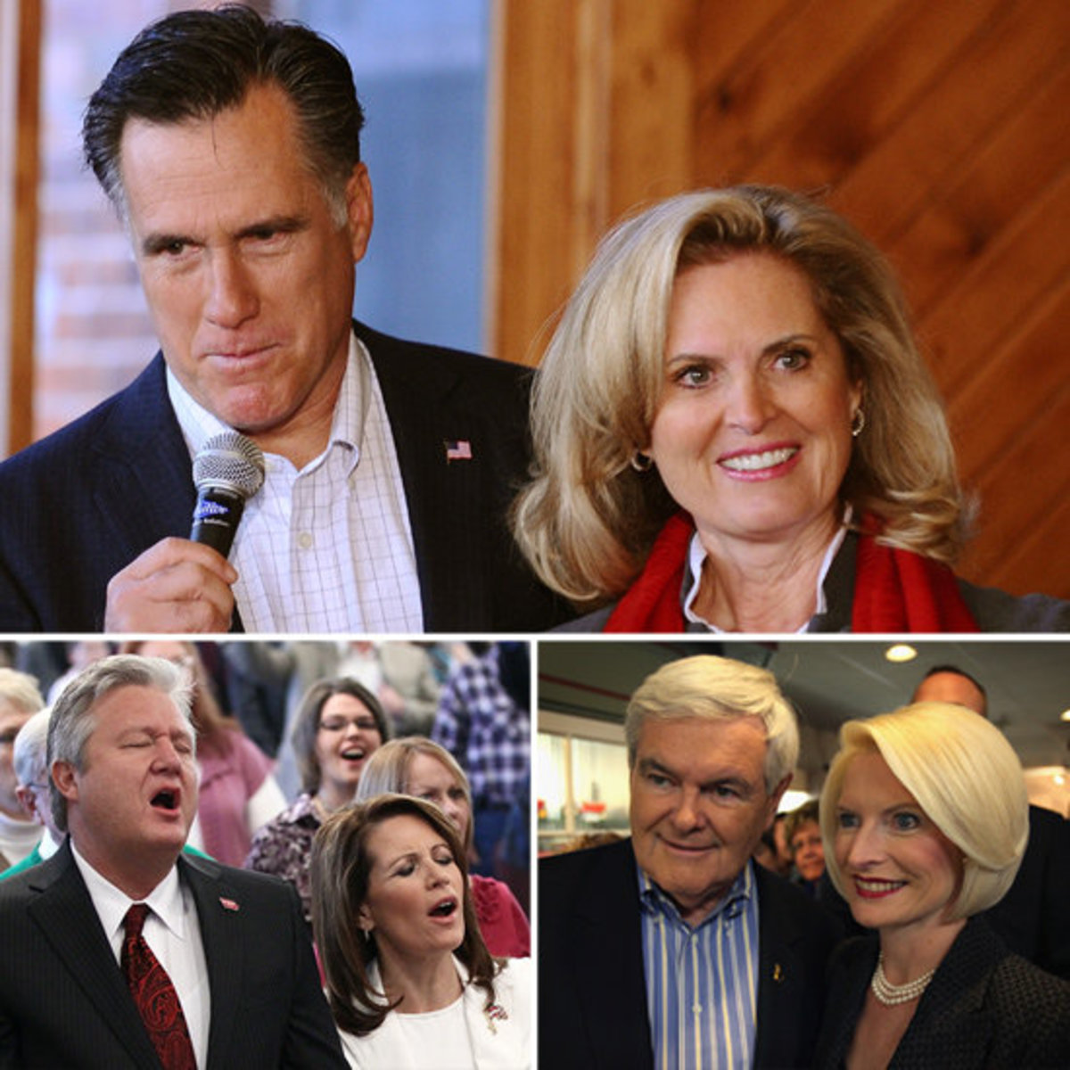 Some of the 2012 Republican candidates and their spouses