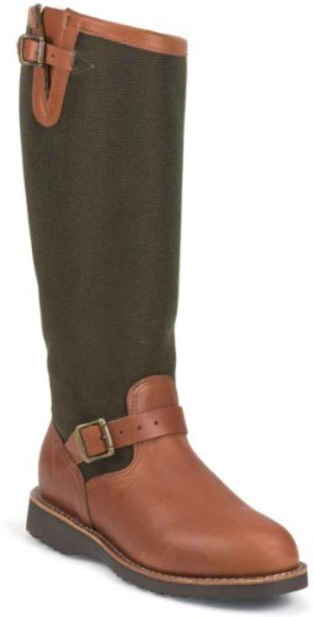 Chippewa L23913 Women's 15-in Viper Cloth Snake Boot Brown Espresso