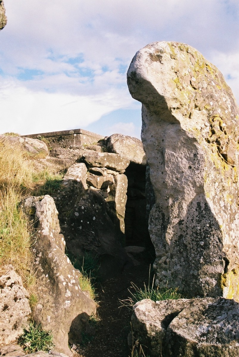 Entrance to the West Kennet Long Barrow, U.K., August, 2014
