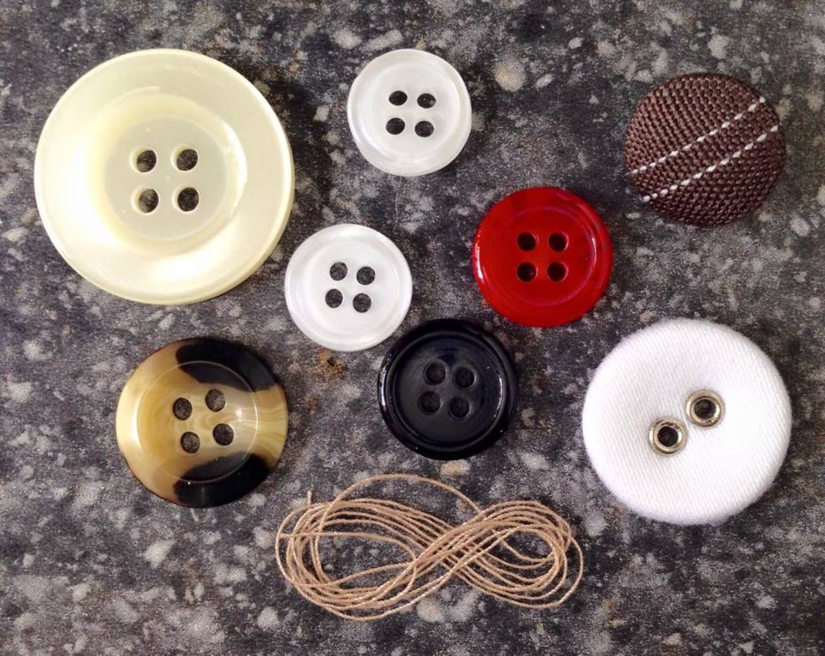 Some of the many buttons we've found.