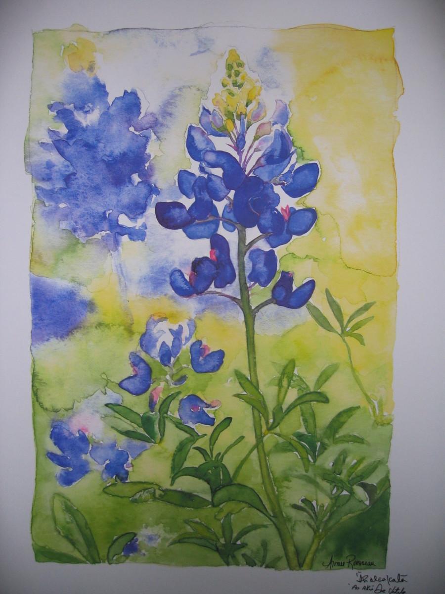 Blue Bonnets, by Aimee Rousseau,   www.healingpainting.com