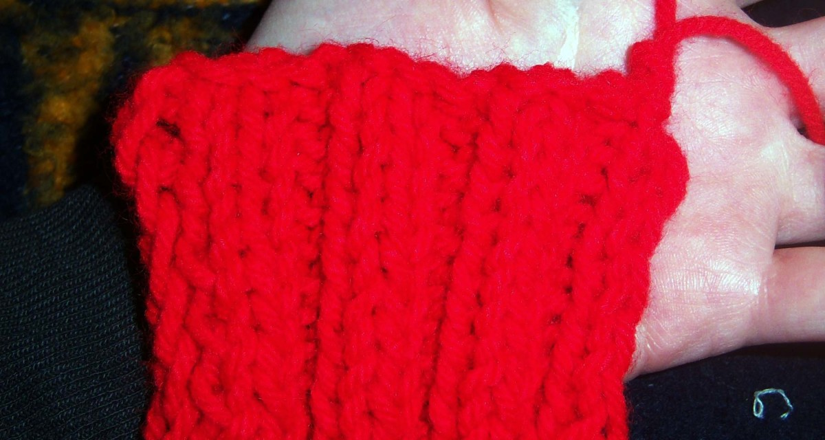 The finished bind off from the front.