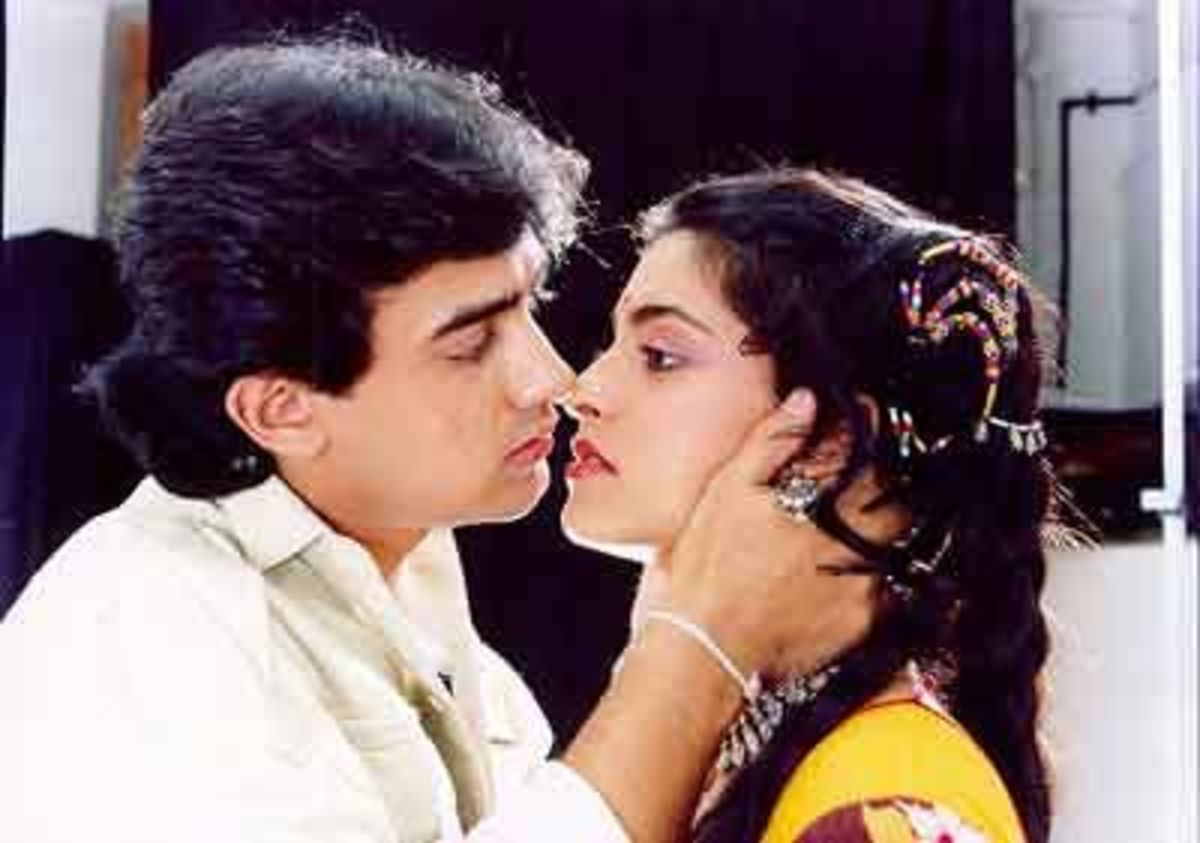 Aamir Khan and Juhi Chawla in Qayamat Se Qayamat Tak.
