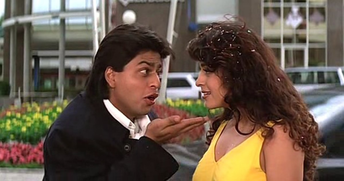 Shah Rukh Khan and Juhi Chawla in Yes Boss.
