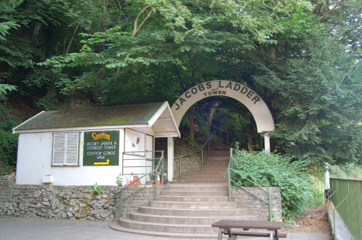 The entrance to Jacob's Ladder in Cheddar