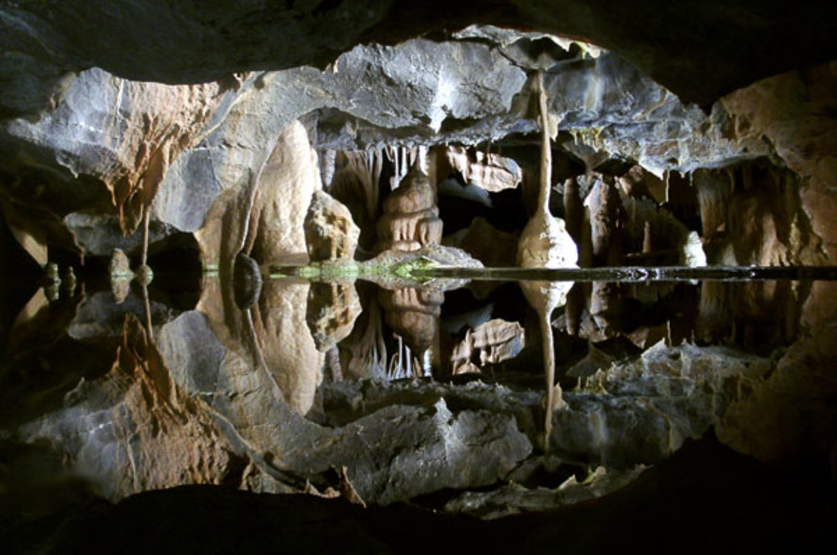Reflections in Gough's Cave