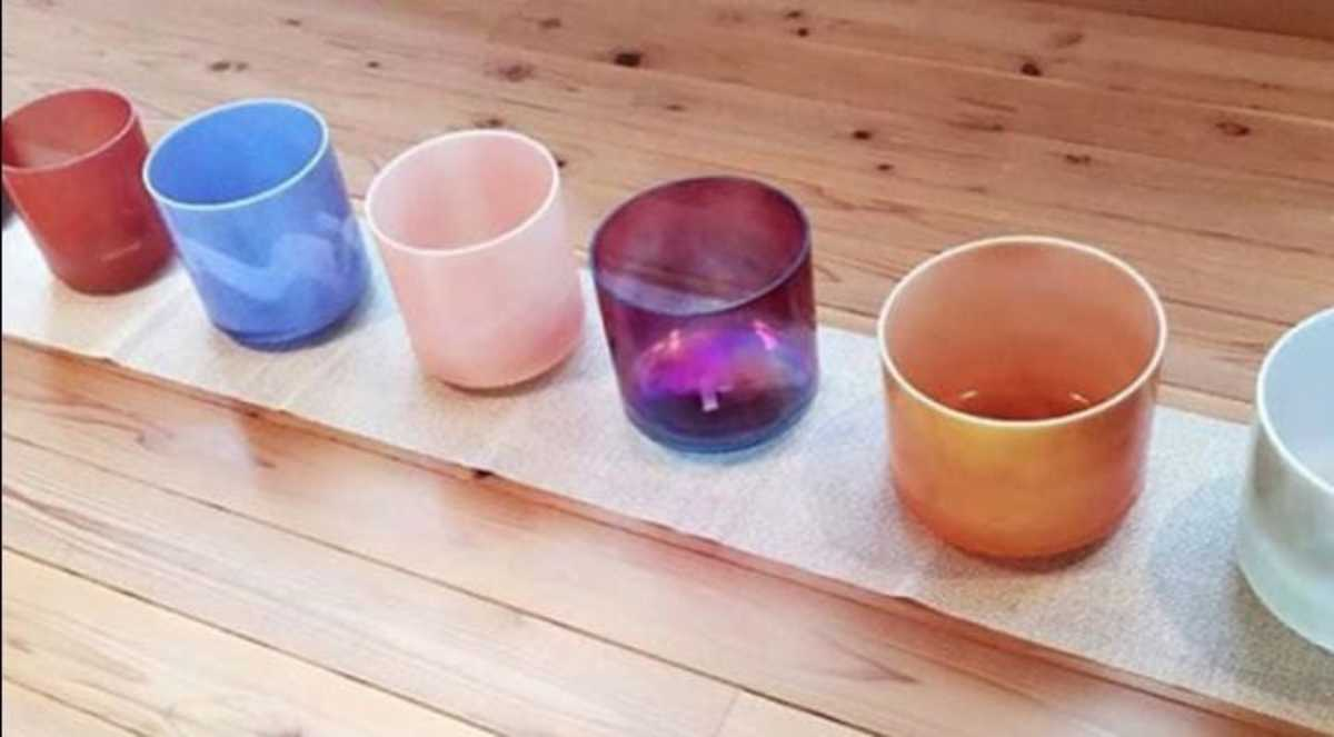 Crystal Bowls Used for Sound Bath Therapy