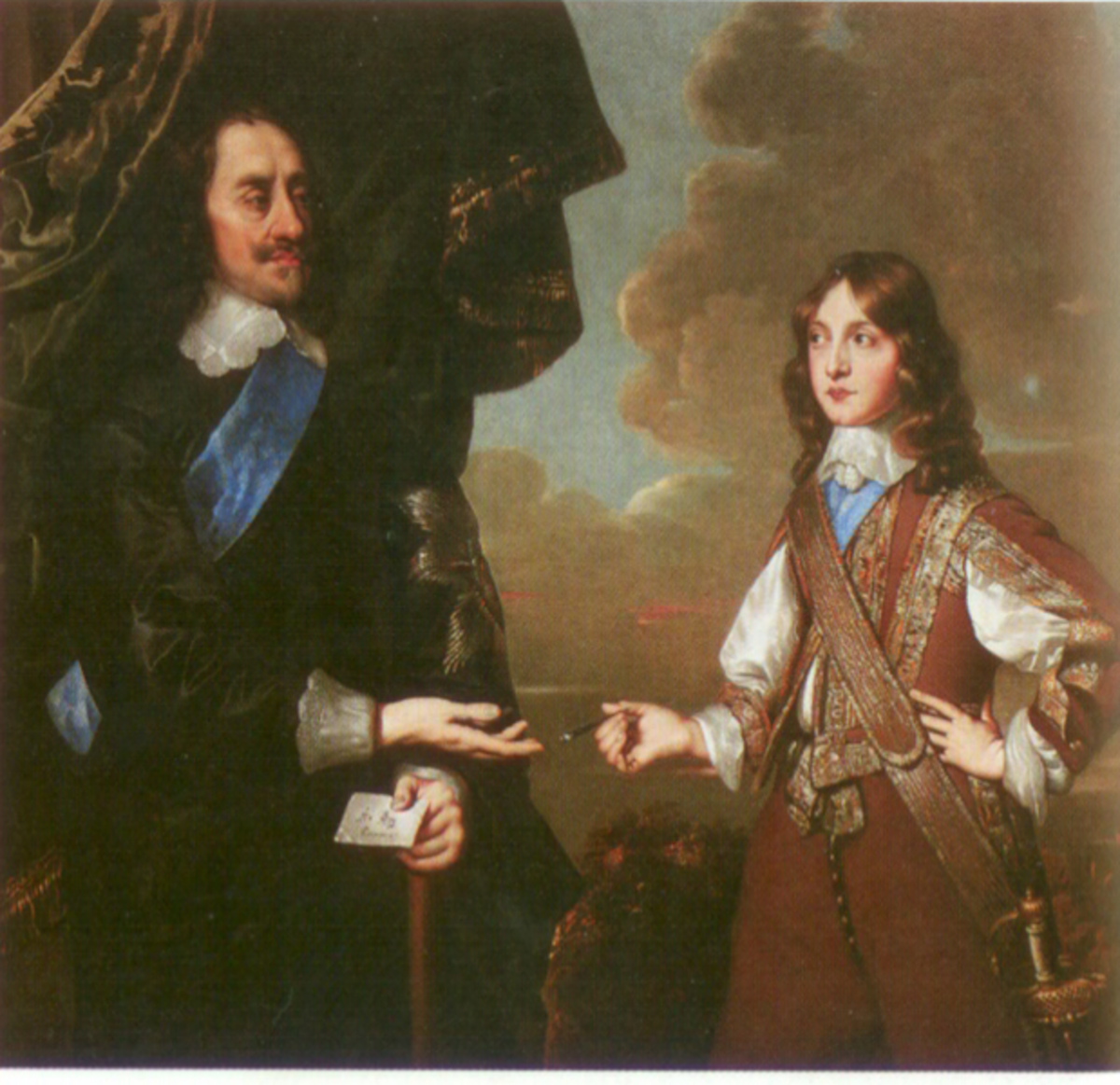 James II with his father, Charles I of England