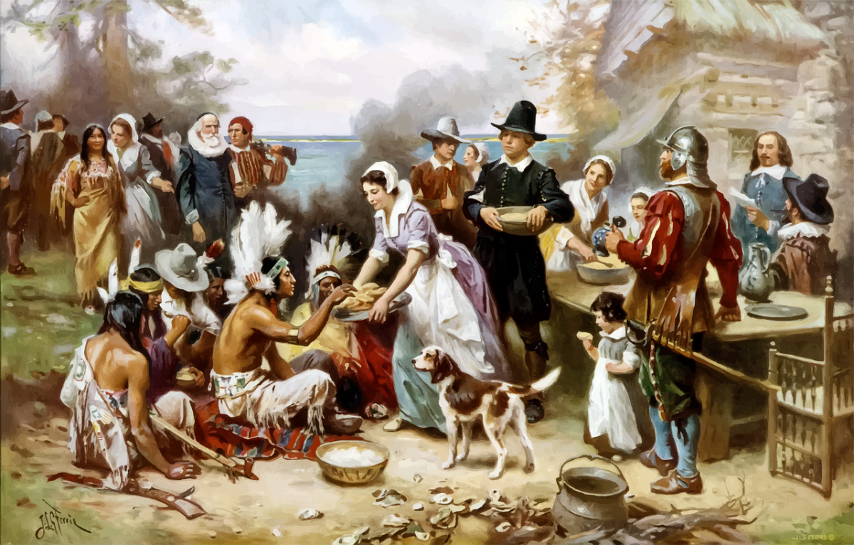 Thanksgiving: Image by Gordon Johnson from Pixabay