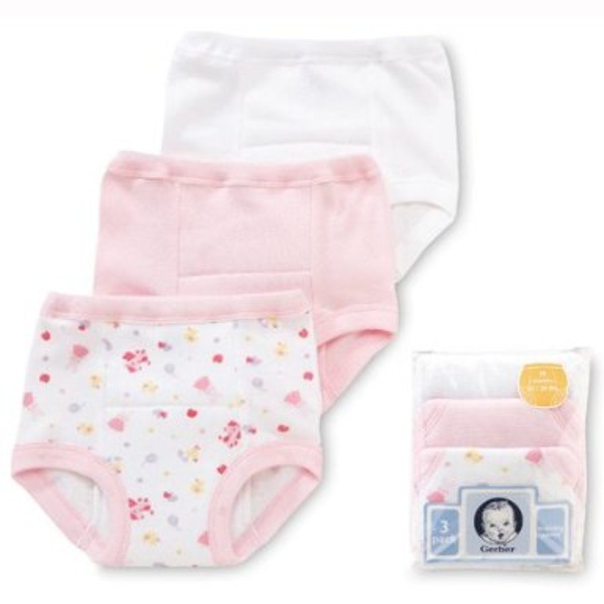 Gerber Training Pant, 3 Pack, Girl, 3T