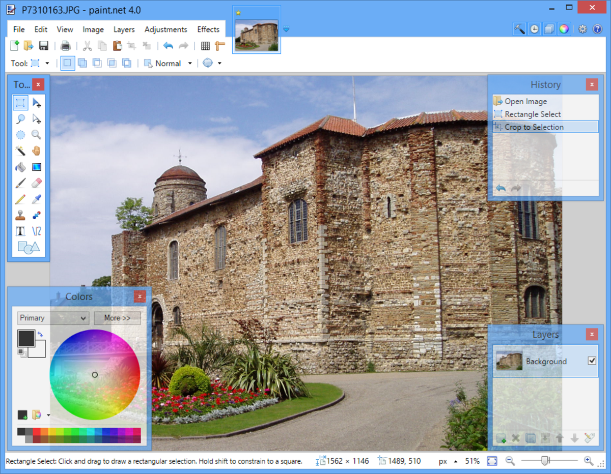 Paint.net is an freeware Photoshop alternatives that is both sophisticated and easy to use.