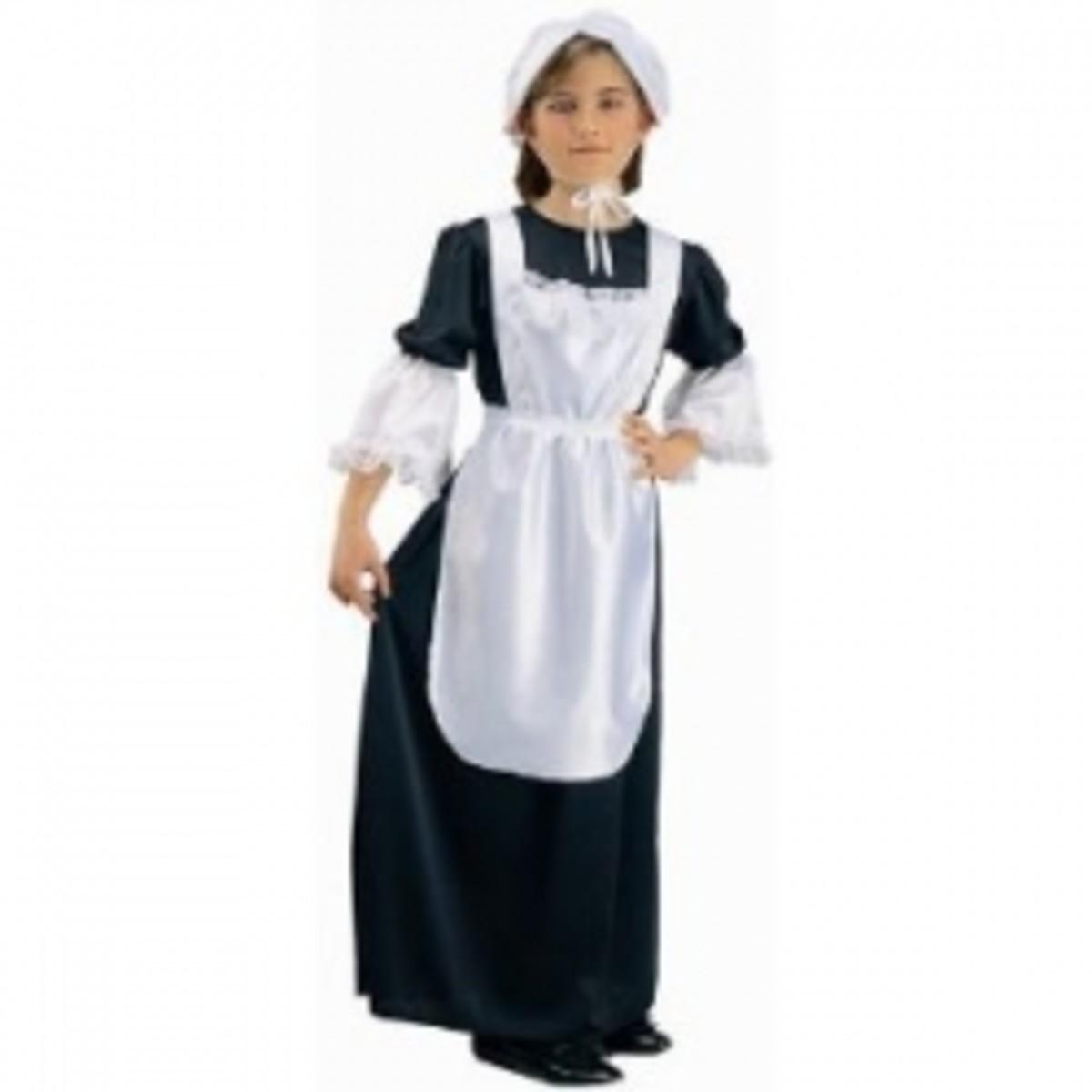 Children's Pilgrim Costumes for Thanksgiving