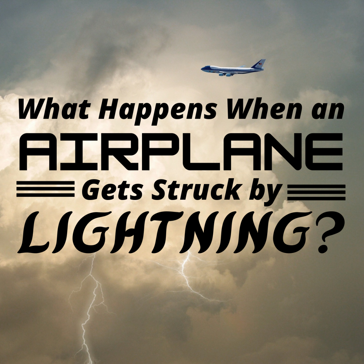How are airplanes protected from lightning strikes?