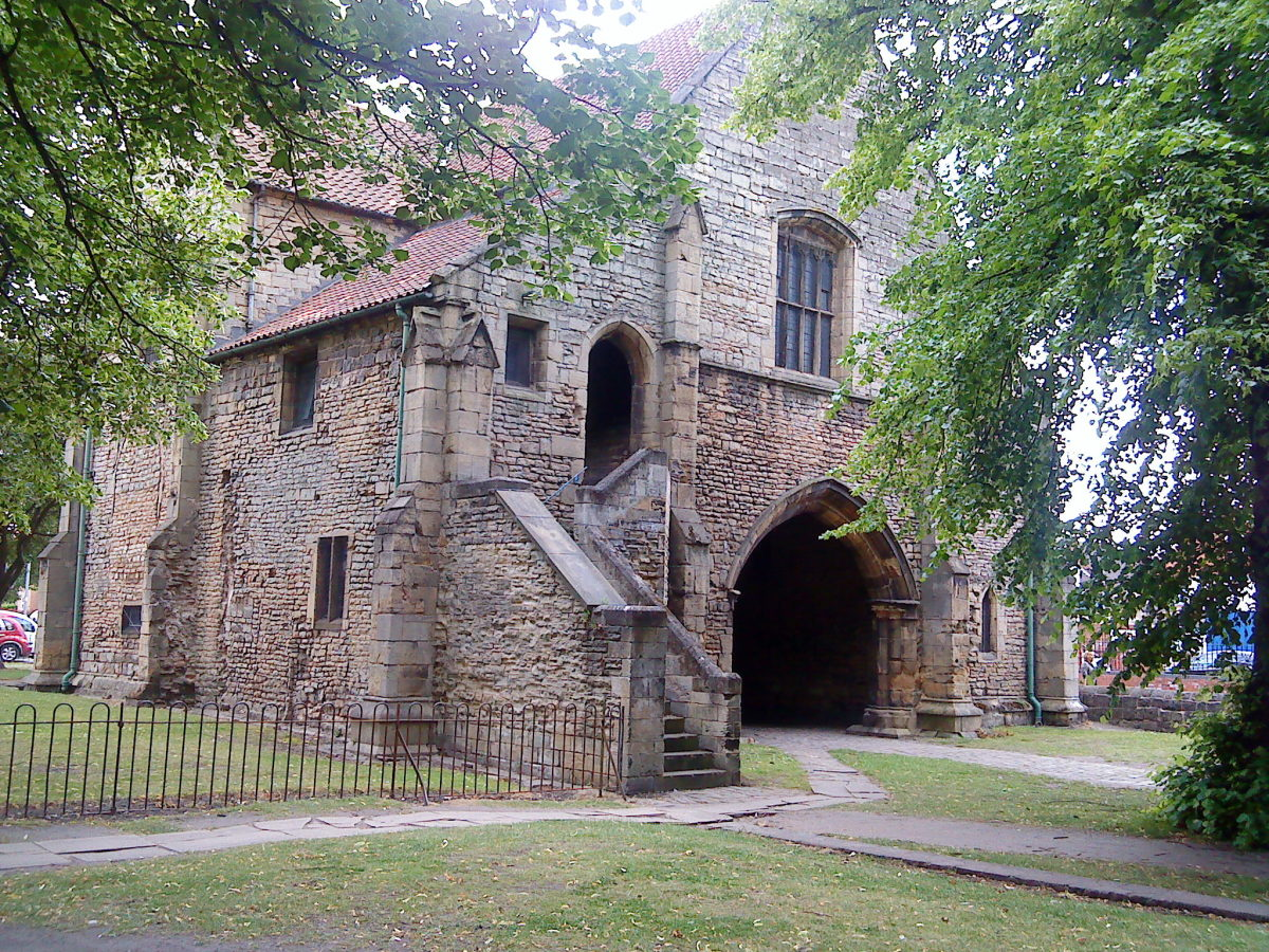 The Gatehouse to the Priory Church in Worksop, Nottinghamshire.