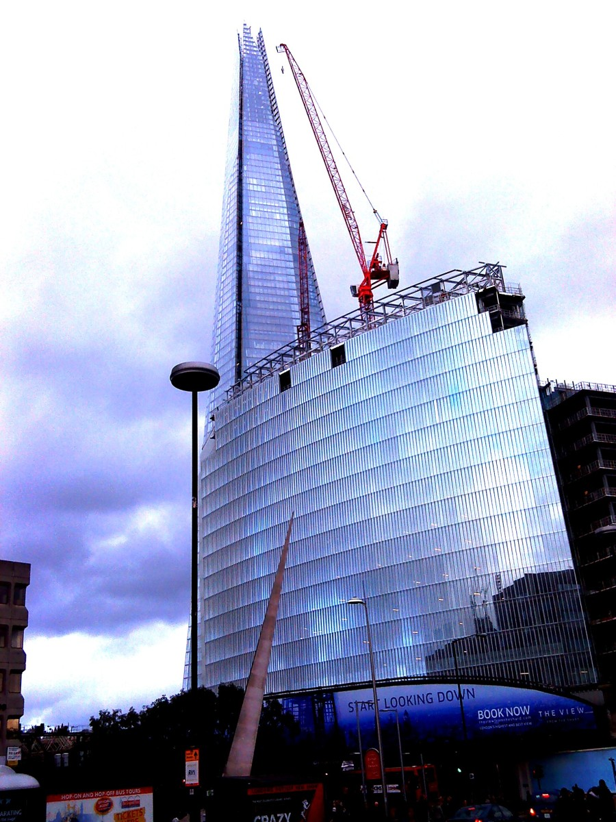 The Shard in the centre of London