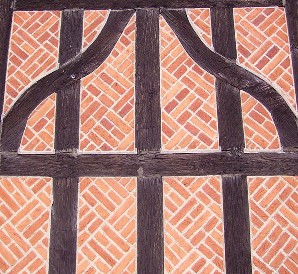 A horseshoe cloister in Windsor Castle, oak and brick.