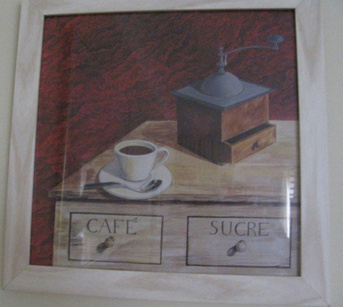 An old-fashioned coffee grinder.  Do you take sugar?