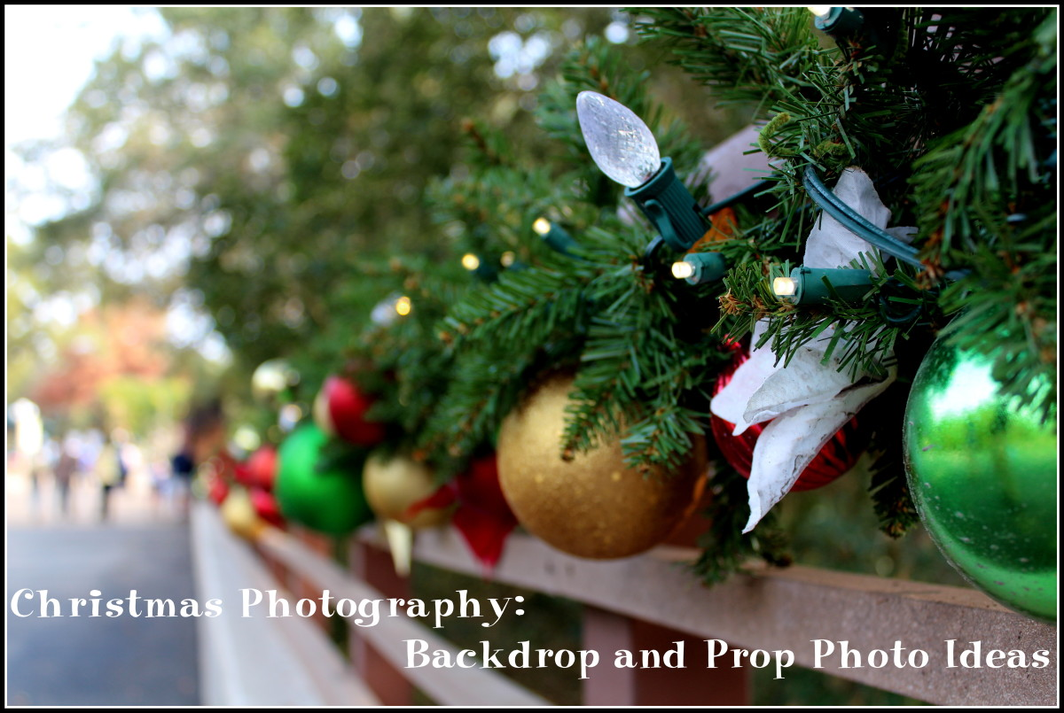 Christmas Photography: Backdrop and Prop Photo Ideas