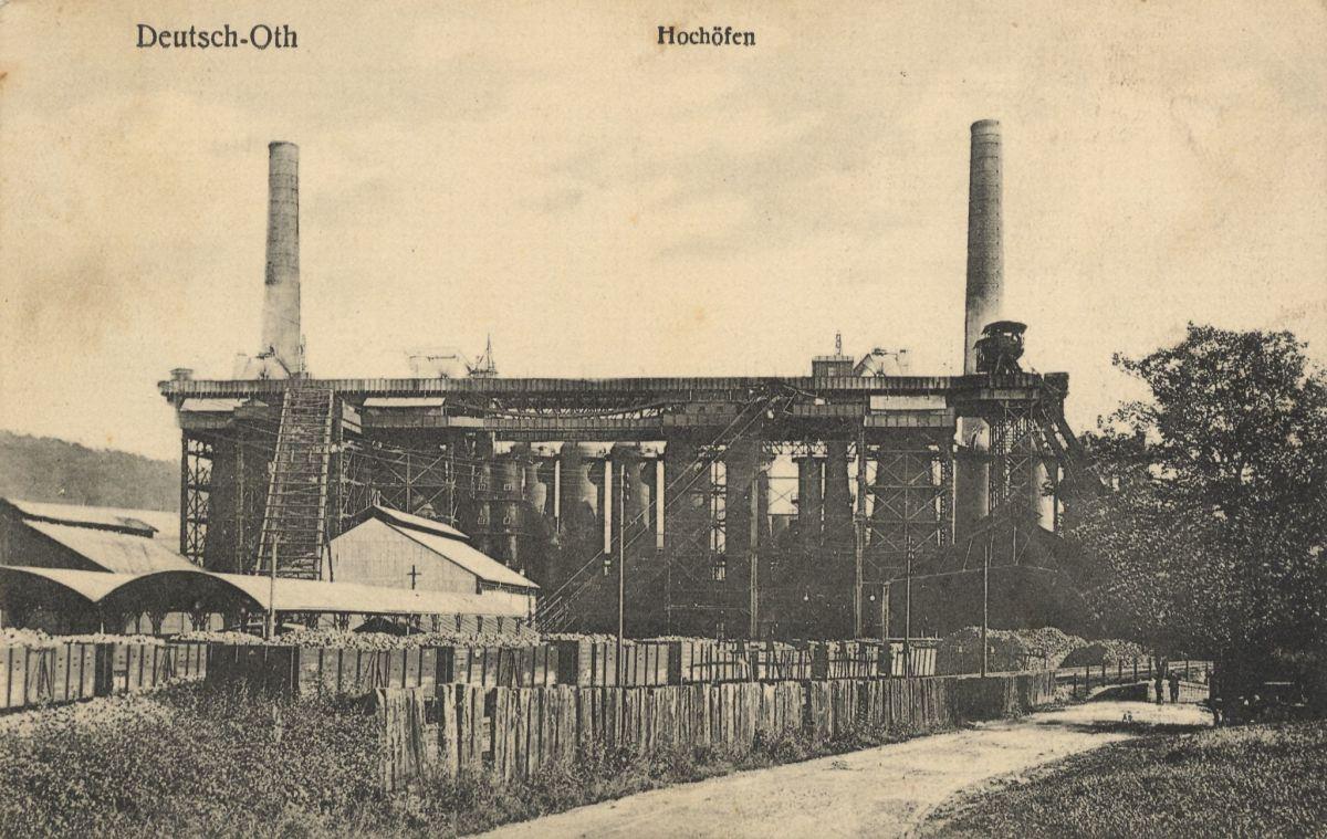 Blast furnaces in Audun-le-Tiche, circa 1900