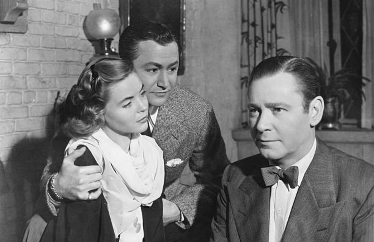 Though blind, John perceives their beauty.  Dorothy McGuire, Robert Young, Herbert Marshall