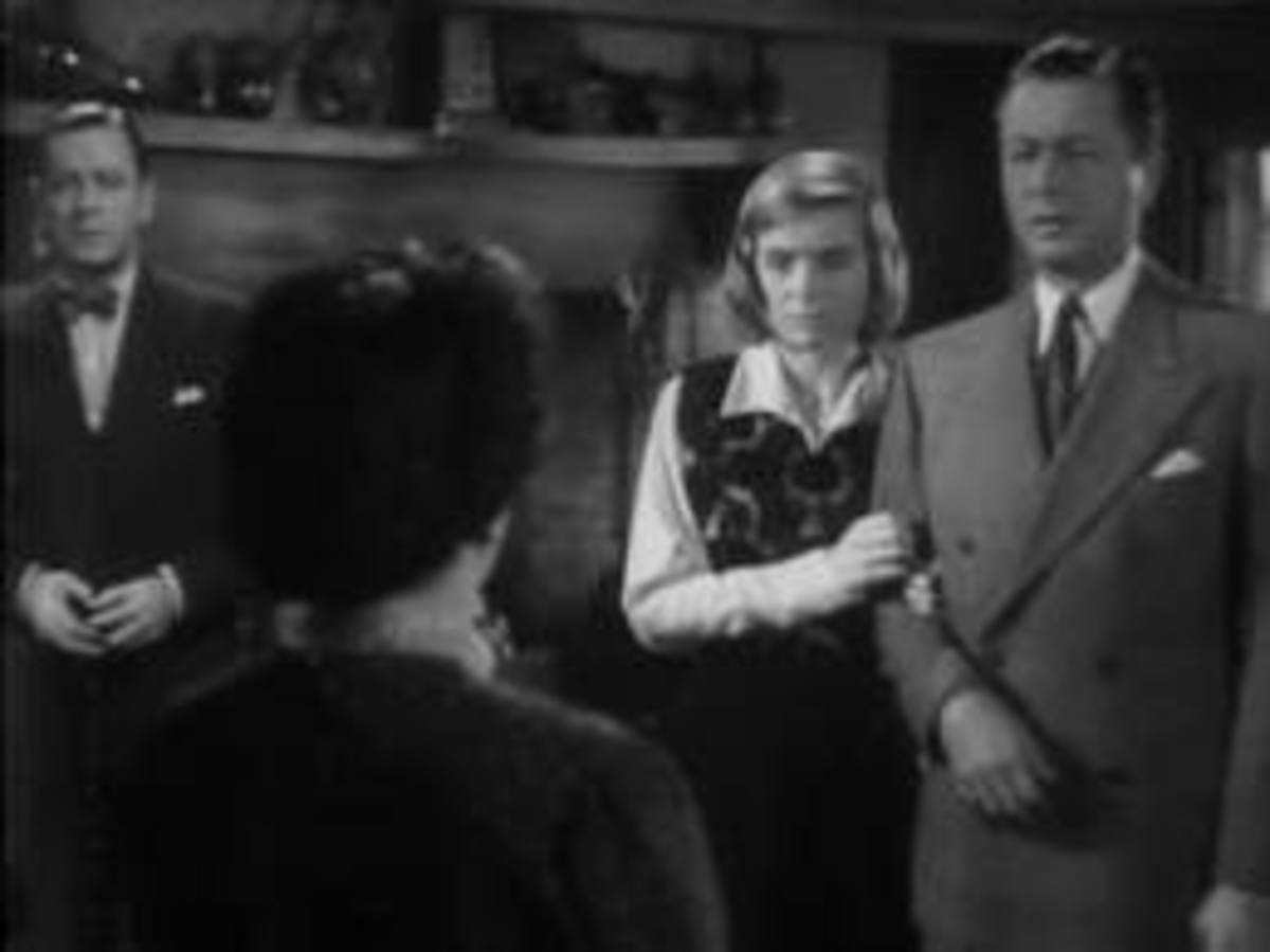 Herbert Marshall and Mildred Natwick,  Dorothy McGuire and Robert Young