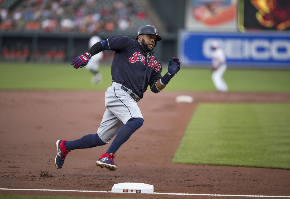 Carlos Santana has spent 10 seasons with the Indians. He came to Cleveland as a prospect from the Dodgers.