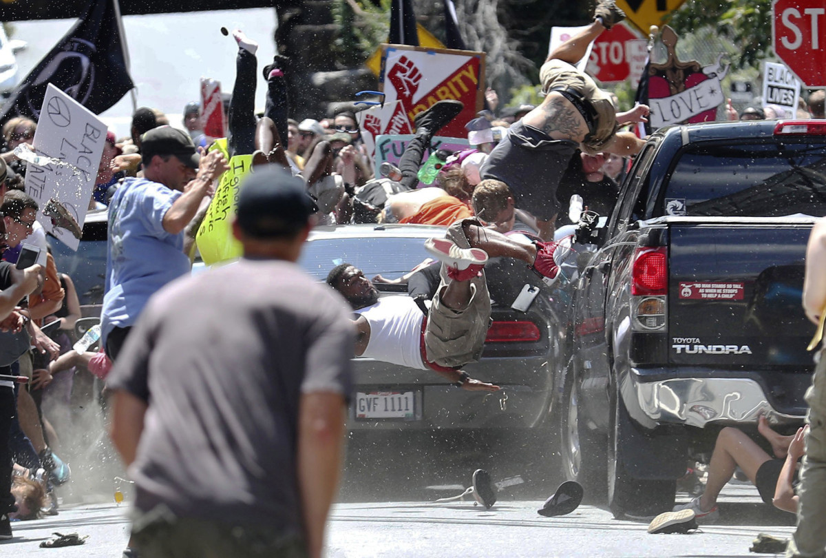 The car attack during 2017's Unite The Right Rally