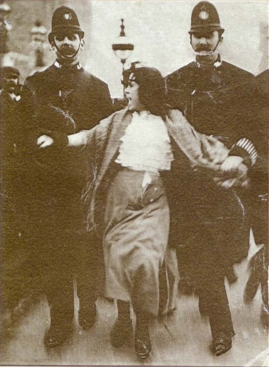 Teenager Dora Thewlis gets arrested protesting for women's rights in 1907
