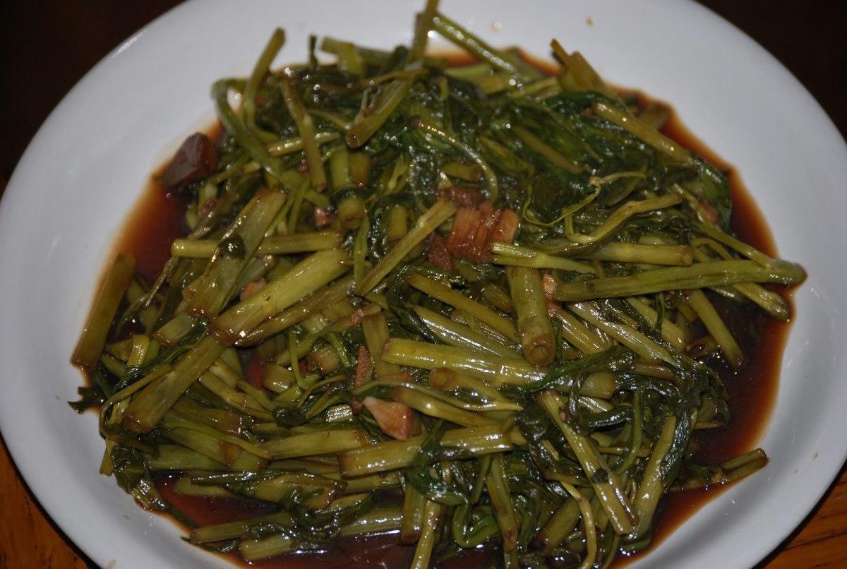 Vegetarian Filipino Adobong Kangkong (Asian Water Spinach Adobo)