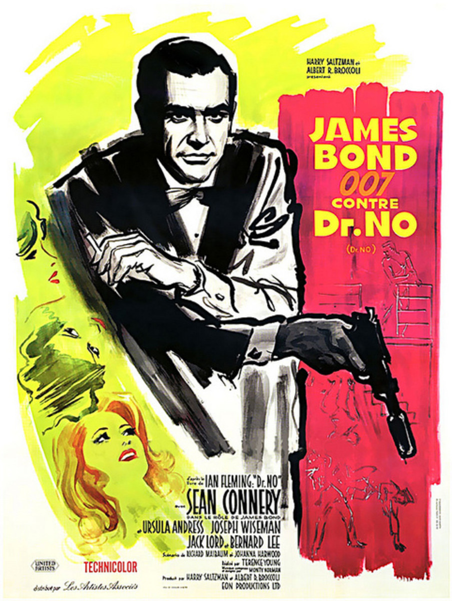 "Movie poster, Sean Connery in ""Dr. No"" 1962"