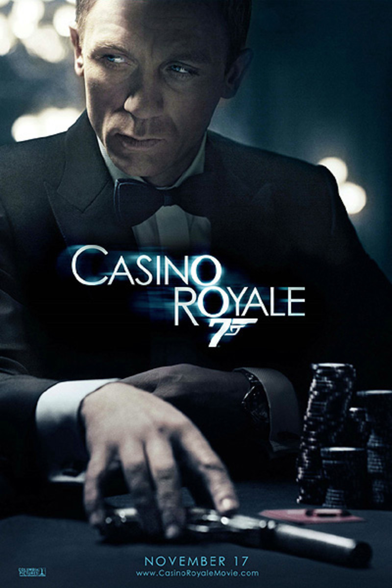 "Movie Poster, Daniel Craig, ""Casino Royale"" 2006."