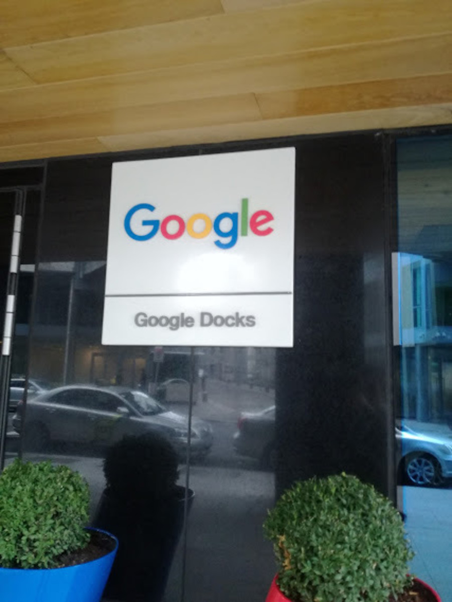 The entrance of a Google building in Dublin. Google is not only a search engine, but also a conglomerate of different services. The same, Alibaba is successful not only for their online commercial platform, but also for other products.