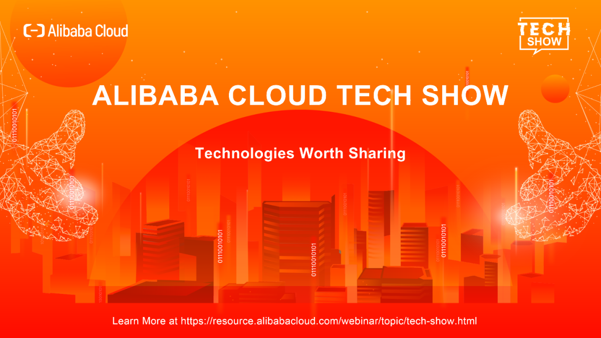 An ad related to the Alibaba Cloud Tech Show