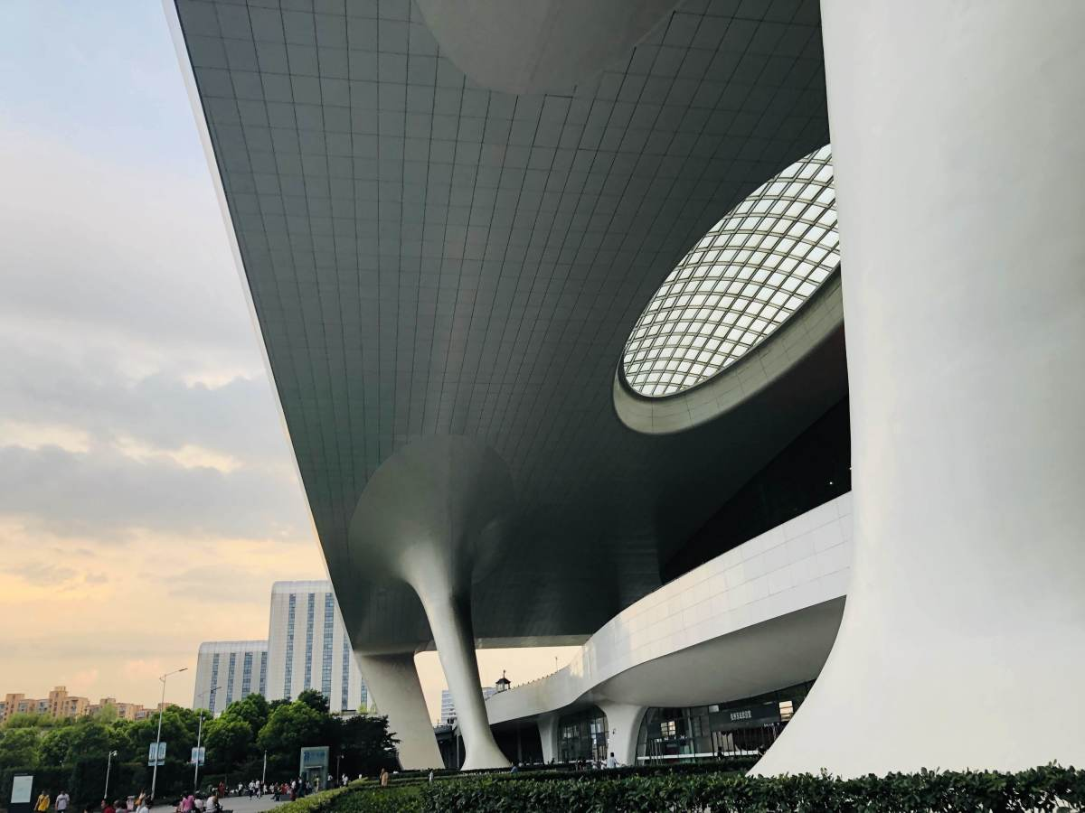 A view of Hangzhou, capital of Zhejiang, China. Hangzhou is where Alibaba is headquartered. Like many other Chinese cities, it looks very futuristic.