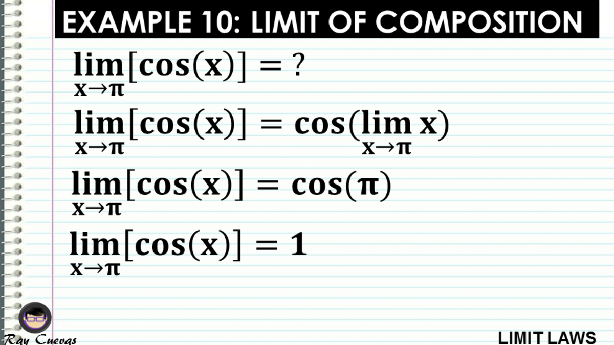Example 10: Evaluating the Limit of Composition Functions