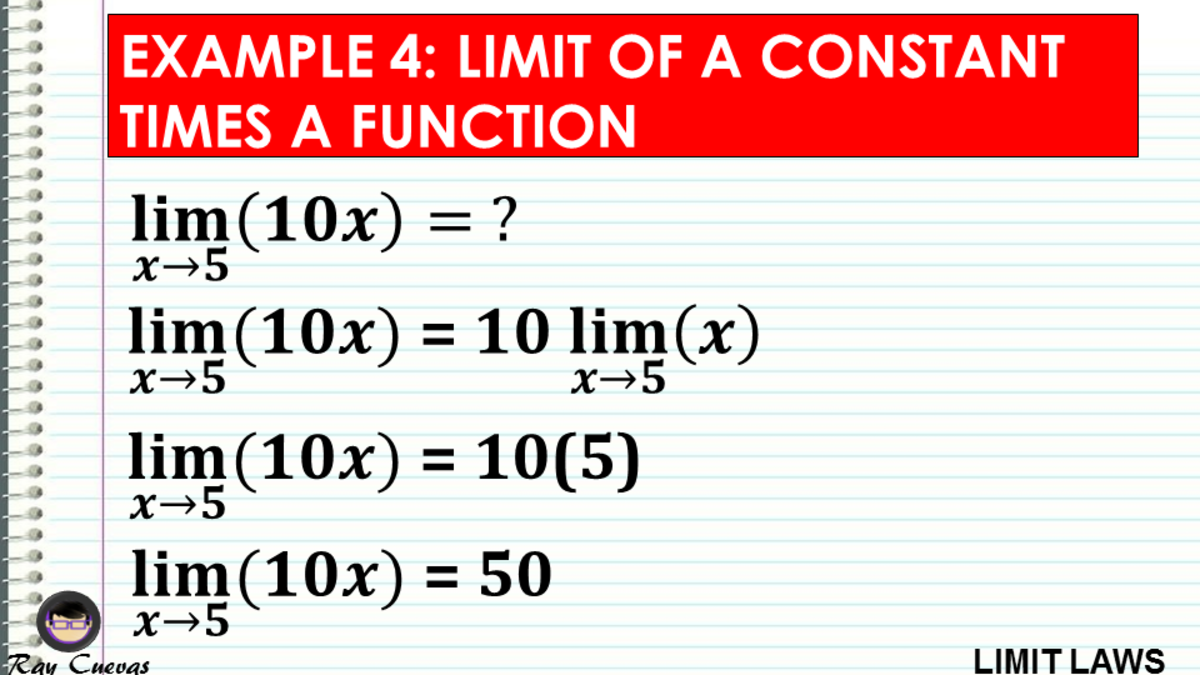 Example 4: Evaluating the Limit of a Constant Times the Function