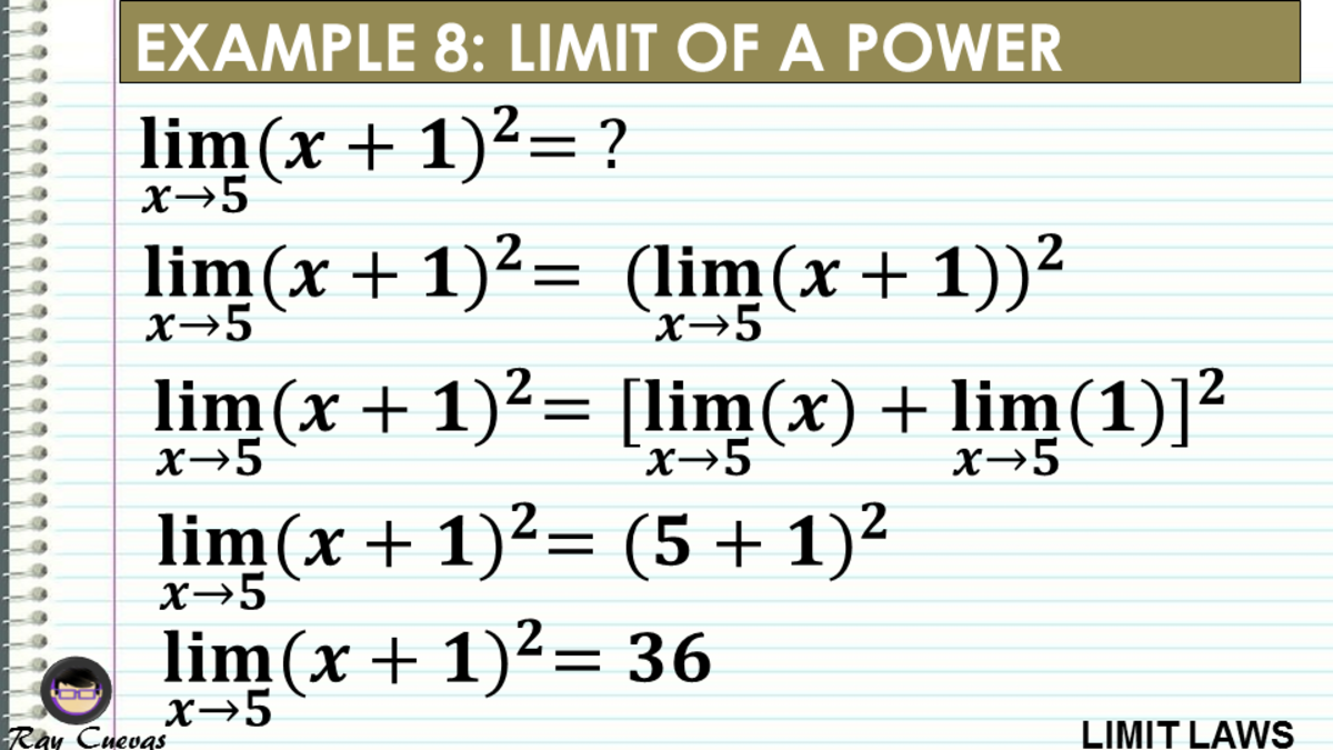 Example 8: Evaluating the Limit of the Power of a Function