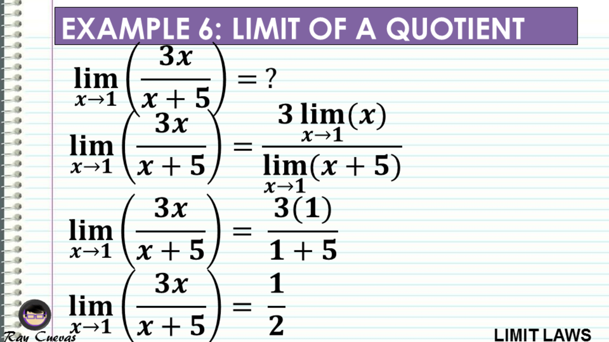 Example 6: Evaluating the Limit of a Quotient