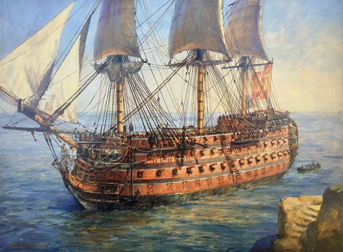 The Santisima Trinidad, the largest ship of the line in the world in the late 18th century, and a testament to the importance of the Spanish navy.