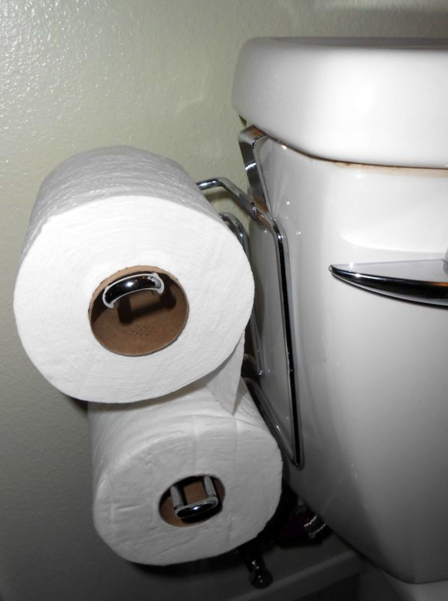 Space Saving Double Toilet Roll