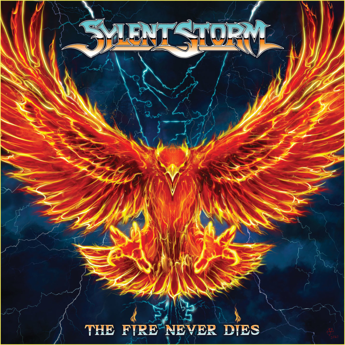"""The Fire Never Dies"" album cover"