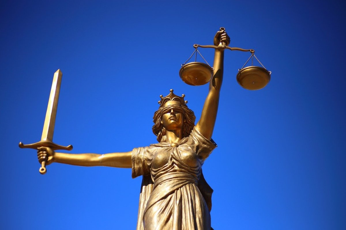 When all else fails, lady justice is there to weigh in on the situation.