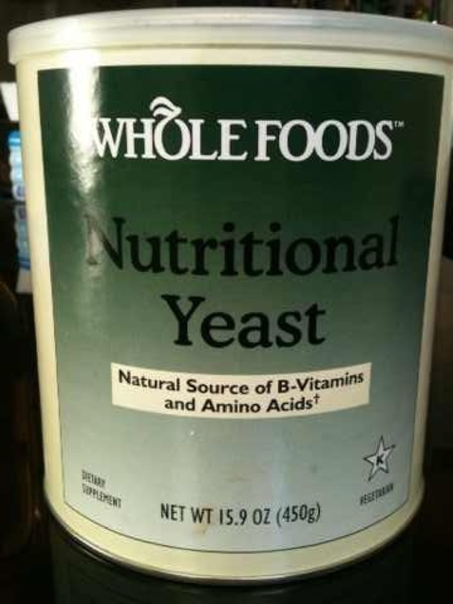 This big container of nutritional yeast has lasted me for a year now!
