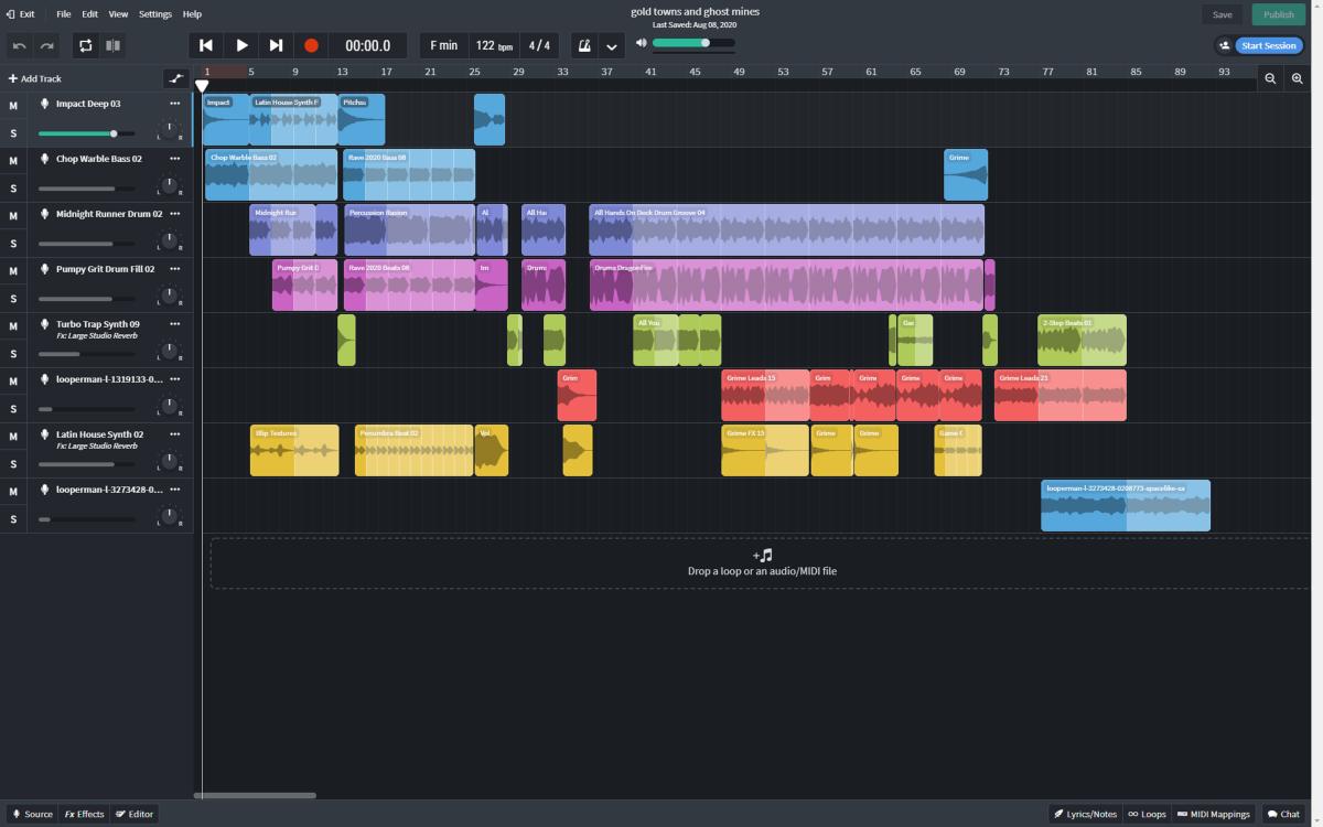 Bandlab.com interface
