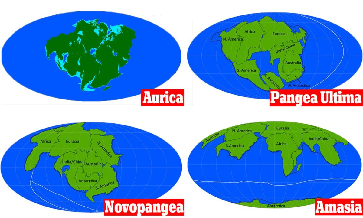 Four Scenarios of Future Pangea